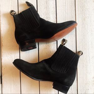 Botines Charros Black Nobuck Ankle Boots
